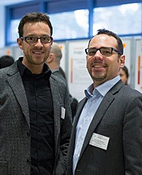 Portrait photo: Prof. Dr. rer. nat. Nicolas Vogel and Prof. Dr.-Ing. Erik Bitzek